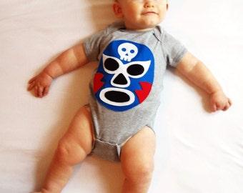 Luchador Azul - Blue Mexican Wrestler Infant Bodysuit