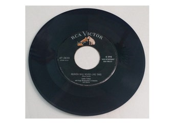 "RCA Victor Vintage Eddie Fisher 45 rpm Record ""Heaven Was Never Like This."""