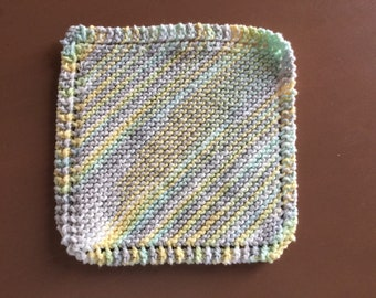 MOP dishes, knitted dishcloth, MOP wool resistant MOP, MOP eco-friendly, reusable cloth, 100% cotton cloth