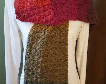 Long Blankeet Stitch Scarf in Chimera