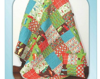 SPRING PATTERN SALE - Little Buddy Quilt and Pillow pattern by Carlene Westberg
