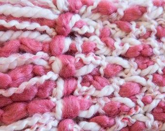 Rose Pink Braided Scarf