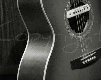 Refrigerator Magnet, Fridge, Sepia, Guitar, Musical Instrument, Music, Home Decor, Guitarist Gift, Photography Gift Ideas, Acoustic Guitar