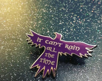 """Limited Edition - The Crow - Eric Draven - """"It can't rain all the time"""" - 2"""" Hard Enamel Pin - Purple and Silver - Lapel Pin, Badge, Flair -"""