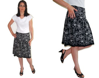 PDF pattern. Sizes 6  to 18 pleated skirt - sewing digital pattern. PDF download skirt pattern.