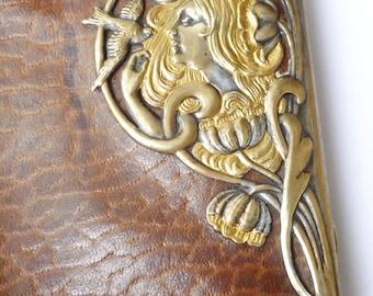 Art Nouveau Gold Plated Wallet/Cheroot Case