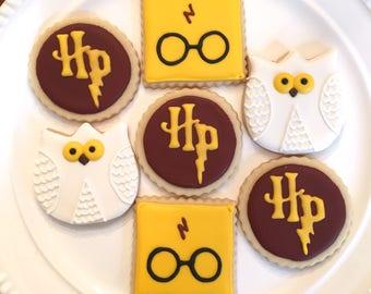 Harry Potter Cookies | Harry Potter Party | Harry Potter Gift | One Dozen