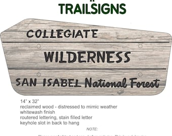 Collegiate Wilderness trail sign
