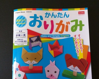 Japanese Origami Book -Easy and Simple Origami,Children origami book, paper craft book, craft book