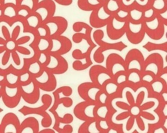 1 yard, Wallflower in cherry, Lotus collection by Amy Butler