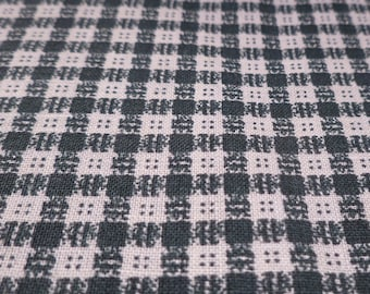 Square Button Plaid - Vintage Fabric - Cotton - Primitive - Folk - Christmas