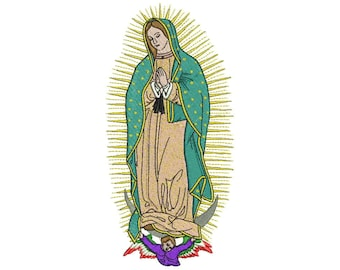 Our Lady of Guadalupe Embroidery design