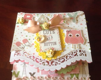 Cute as a Button Hand-made Scrapbook