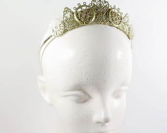 Arya Gold Filigree Tiara - by Loschy Designs