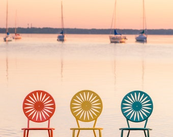 Chairs at Memorial Union, UW Madison Terrace, Wisconsin Photography, Madison Photography, Madison Wisconsin Art, Lake Mendota, Wall Decor