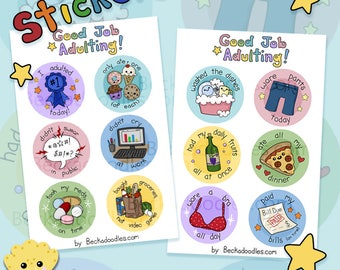 Adulting Stickers - Sticker Sheets