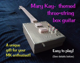 Mary Kay™- Themed Electric Box Guitar