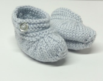Knitted Baby Booties, Knit Baby Slippers, Baby Booties, Baby Shower Gift, Baby Booties Knit, Knitted Booties, 0-3 month Baby Gifts