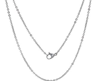 Stainless steel 304-45 cm silver chain necklace