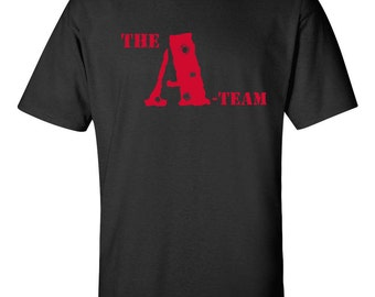 The A Team Retro TV Series Mr. T WORDS ONLY on Front Men's Tee Shirt 806