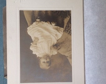Victorian Cabinet Card, Vintage Photograph, Baby Girl
