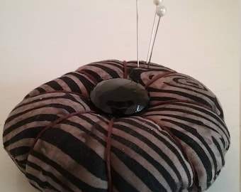 Wood Grain Batik Pincushion