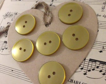 6 large Bronze buttons