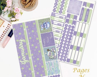 January Monthly Planner Sticker Kit for Erin Condren Life Planners/ Functional Stickers/ Monthly Sticker Set