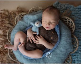 Newborn boy photo outfit / Newborn photo prop / Newborn boy romper / Baby photo prop / Baby boy photo outfit / Newborn photography set