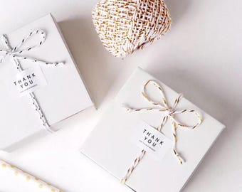 40x White Bomboniere Favor Boxes  Wedding Birthday Party Baby Shower Baptism Christening Gift Box  Easter Chocolate Candy Cookie Favour Box