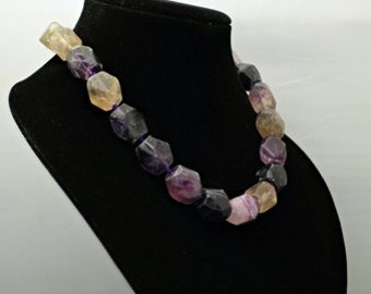 Raw fluorite Necklace