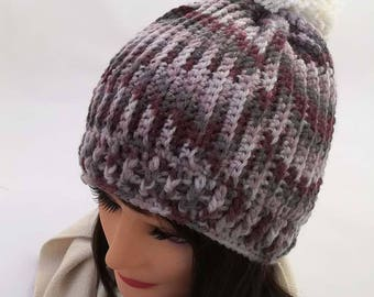 CROCHET PATTERN - Simple Stripes hat crochet pattern - Winter hat crochet pattern - Pattern No. 235