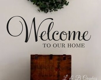 Vinyl Wall Decal Etsy - Wall decals entryway