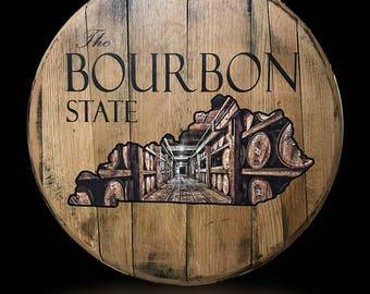 The Bourbon State Barrel Head