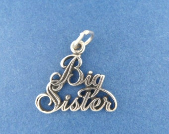 BIG SISTER Charm .925 Sterling Silver Pendant - lp4128