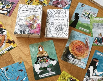 Life Design cards - oracle deck - practical cards - mini guidebook- problem solving- oracle cards- nature - astrology- seasonal