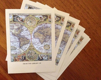 Map of the World Bookplate