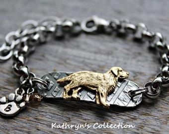 Yellow Lab Bracelet, Yellow Lab, Dog Breed Bracelet, Dog Lover Gift, Lab Mom