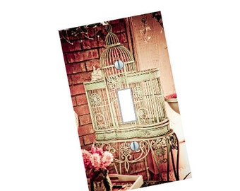 Vintage Bird Cage Light Switch Plate wall art living room bedroom Elegant beautiful home decor gift made in the USA