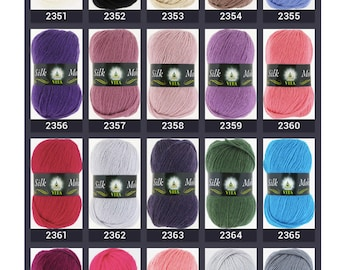 Silk Mohair Yarn Color Choices, This listing is NOT FOR SALE