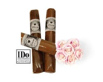 Cigar Bands - Wedding Bands - Custom Heart Cigar Bands - Wedding Cigar Bar - Custom Cigar Bar Labels - Love Cigar Stickers