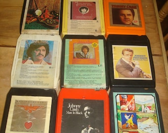 Lot of 10 - Vintage 8 Track Tapes Country & Western.