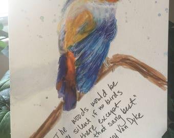Original Bird Song Original Painting