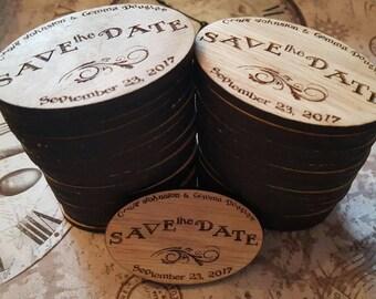 oak magnet save the dates
