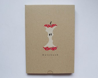 Printed Apple Core A5 Blank Page Notebook in Matching Box