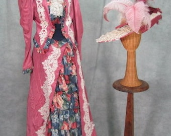 1900s Dress My Fair Lady Costume Theater Quality Titantic Edwardian Suffragette