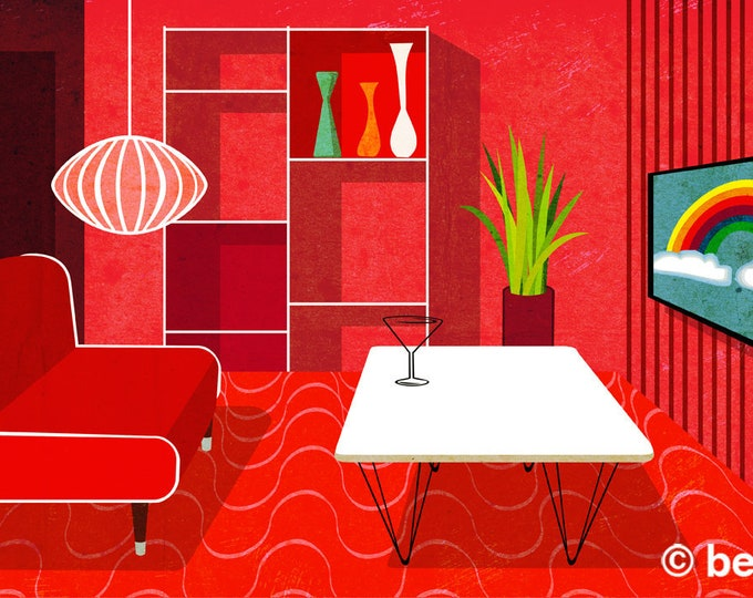 red room interior clip art, royalty free clip art, INSTANT DOWNLOAD
