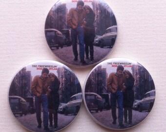 Freewheelin' Bob Dylan Pinback Button