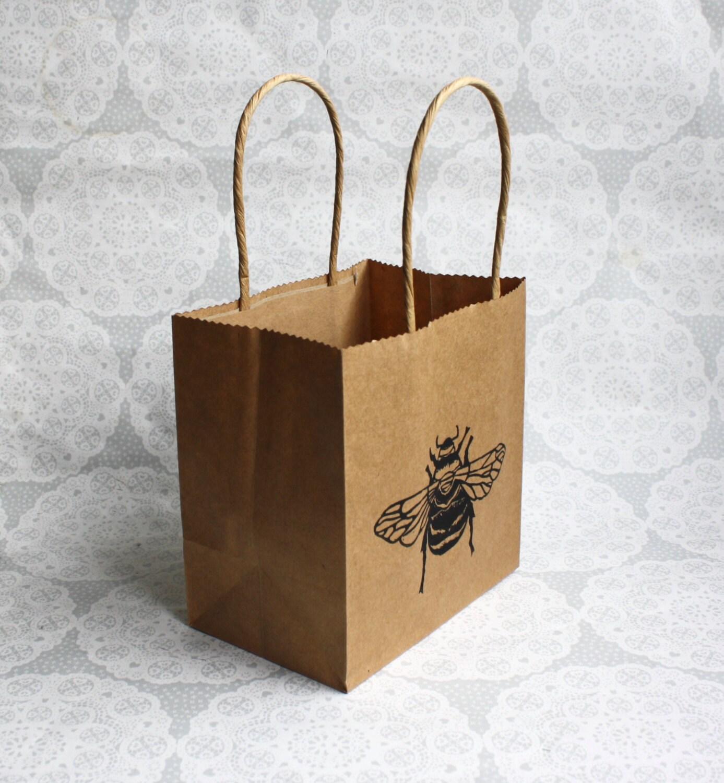 Favorite Bumble bee gift bag | Honey bee | one small kraft paper bag  PE55