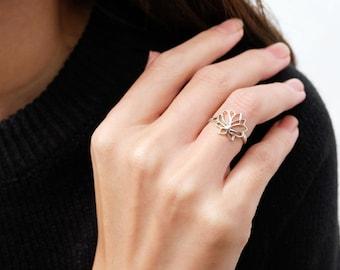 lotus ring, silver lotus, silver lotus ring, flower ring, lotus flower, yoga jewelry, yoga ring, silver ring, lotus jewelry, lotus
